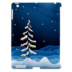 Christmas Xmas Fall Tree Apple Ipad 3/4 Hardshell Case (compatible With Smart Cover) by Nexatart