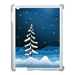 Christmas Xmas Fall Tree Apple Ipad 3/4 Case (white) by Nexatart