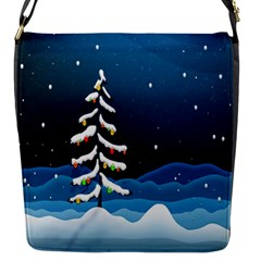 Christmas Xmas Fall Tree Flap Messenger Bag (s) by Nexatart