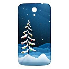 Christmas Xmas Fall Tree Samsung Galaxy Mega I9200 Hardshell Back Case by Nexatart