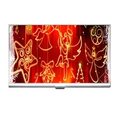 Christmas Widescreen Decoration Business Card Holders by Nexatart