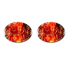 Christmas Widescreen Decoration Cufflinks (oval) by Nexatart