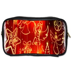 Christmas Widescreen Decoration Toiletries Bags 2 Side by Nexatart