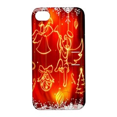 Christmas Widescreen Decoration Apple Iphone 4/4s Hardshell Case With Stand