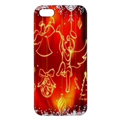 Christmas Widescreen Decoration Apple Iphone 5 Premium Hardshell Case by Nexatart