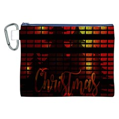 Christmas Advent Gloss Sparkle Canvas Cosmetic Bag (xxl) by Nexatart