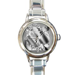 Christmas Background  Round Italian Charm Watch