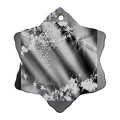 Christmas Background  Snowflake Ornament (two Sides)