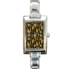 Christmas Background Rectangle Italian Charm Watch by Nexatart