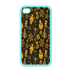 Christmas Background Apple Iphone 4 Case (color) by Nexatart