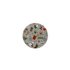 Christmas Xmas Pattern 1  Mini Buttons