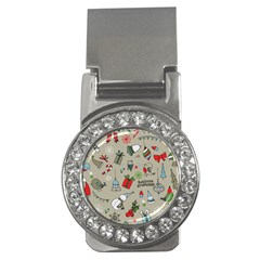 Christmas Xmas Pattern Money Clips (cz)  by Nexatart