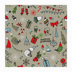 Christmas Xmas Pattern Medium Glasses Cloth
