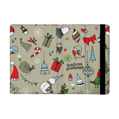 Christmas Xmas Pattern Apple Ipad Mini Flip Case