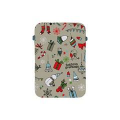 Christmas Xmas Pattern Apple Ipad Mini Protective Soft Cases by Nexatart