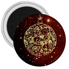 Christmas Bauble 3  Magnets by Nexatart