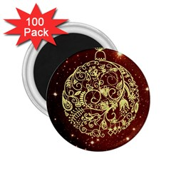 Christmas Bauble 2.25  Magnets (100 pack)