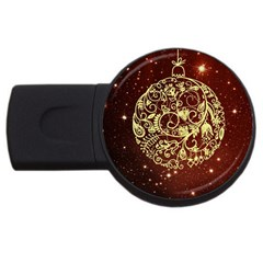 Christmas Bauble USB Flash Drive Round (1 GB) by Nexatart