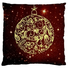 Christmas Bauble Large Flano Cushion Case (two Sides)