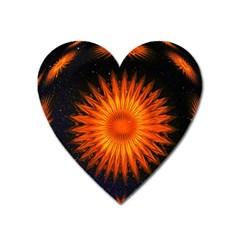 Christmas Card Ball Heart Magnet by Nexatart