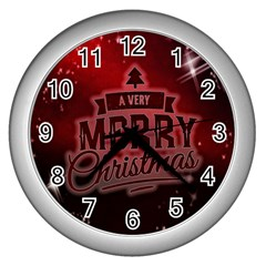 Christmas Contemplative Wall Clocks (silver)