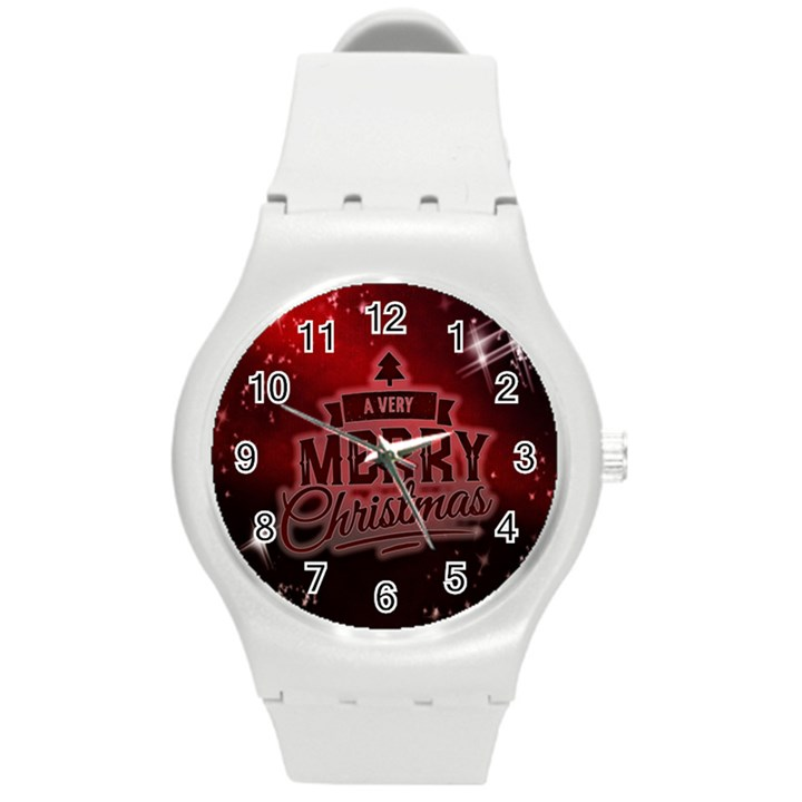 Christmas Contemplative Round Plastic Sport Watch (M)
