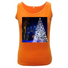 Christmas Card Christmas Atmosphere Women s Dark Tank Top