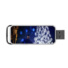 Christmas Card Christmas Atmosphere Portable Usb Flash (two Sides) by Nexatart