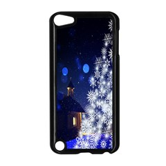 Christmas Card Christmas Atmosphere Apple Ipod Touch 5 Case (black) by Nexatart