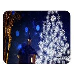 Christmas Card Christmas Atmosphere Double Sided Flano Blanket (large)