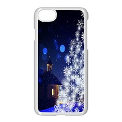 Christmas Card Christmas Atmosphere Apple iPhone 7 Seamless Case (White) by Nexatart