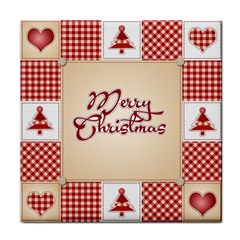 Christmas Xmas Patterns Pattern Tile Coasters