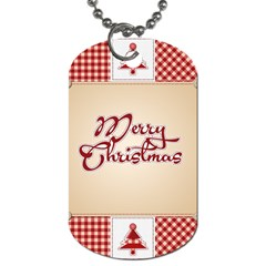 Christmas Xmas Patterns Pattern Dog Tag (two Sides)