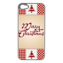 Christmas Xmas Patterns Pattern Apple Iphone 5 Case (silver)
