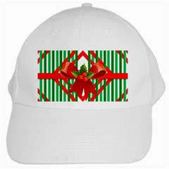Christmas Gift Wrap Decoration Red White Cap