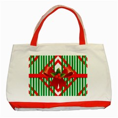 Christmas Gift Wrap Decoration Red Classic Tote Bag (red) by Nexatart