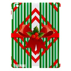 Christmas Gift Wrap Decoration Red Apple Ipad 3/4 Hardshell Case (compatible With Smart Cover)
