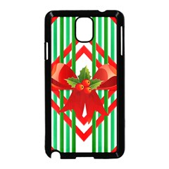 Christmas Gift Wrap Decoration Red Samsung Galaxy Note 3 Neo Hardshell Case (black)