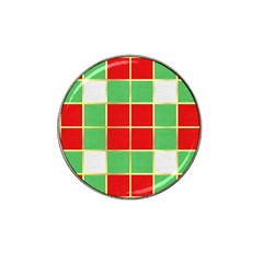 Christmas Fabric Textile Red Green Hat Clip Ball Marker (4 Pack) by Nexatart