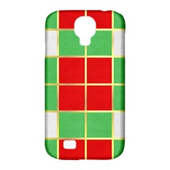 Christmas Fabric Textile Red Green Samsung Galaxy S4 Classic Hardshell Case (pc+silicone)