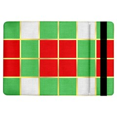 Christmas Fabric Textile Red Green Ipad Air Flip