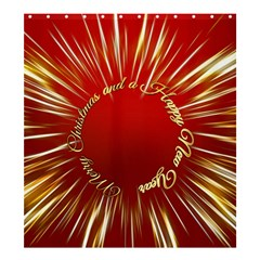 Christmas Greeting Card Star Shower Curtain 66  x 72  (Large)