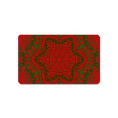 Christmas Kaleidoscope Art Pattern Magnet (name Card)