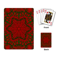 Christmas Kaleidoscope Art Pattern Playing Card