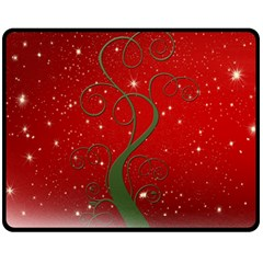 Christmas Modern Day Snow Star Red Fleece Blanket (medium)  by Nexatart