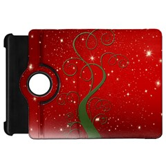 Christmas Modern Day Snow Star Red Kindle Fire Hd 7  by Nexatart