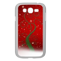 Christmas Modern Day Snow Star Red Samsung Galaxy Grand DUOS I9082 Case (White) by Nexatart