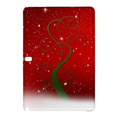 Christmas Modern Day Snow Star Red Samsung Galaxy Tab Pro 12 2 Hardshell Case by Nexatart