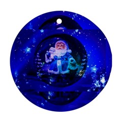 Christmas Nicholas Ball Round Ornament (two Sides)