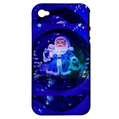 Christmas Nicholas Ball Apple Iphone 4/4s Hardshell Case (pc+silicone) by Nexatart
